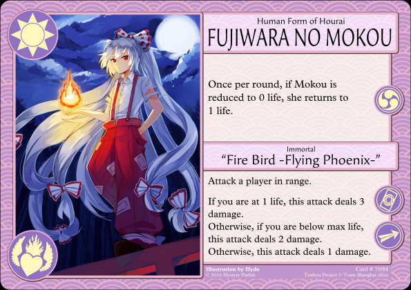 Fujiwara no Mokou card