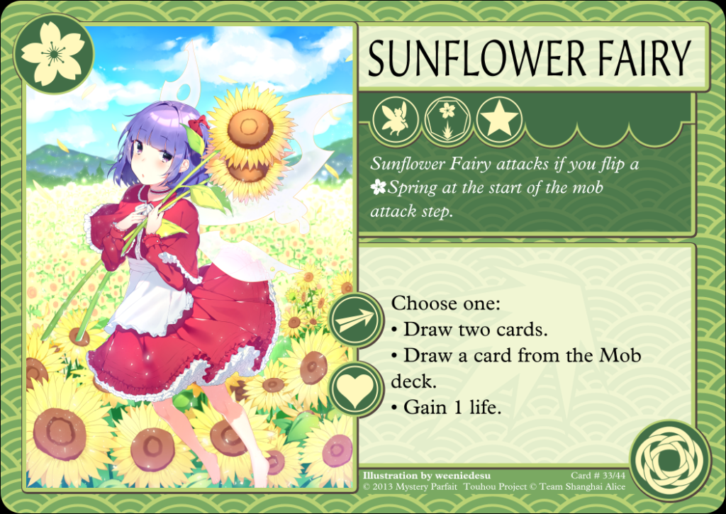 Sunflower Fairy Card