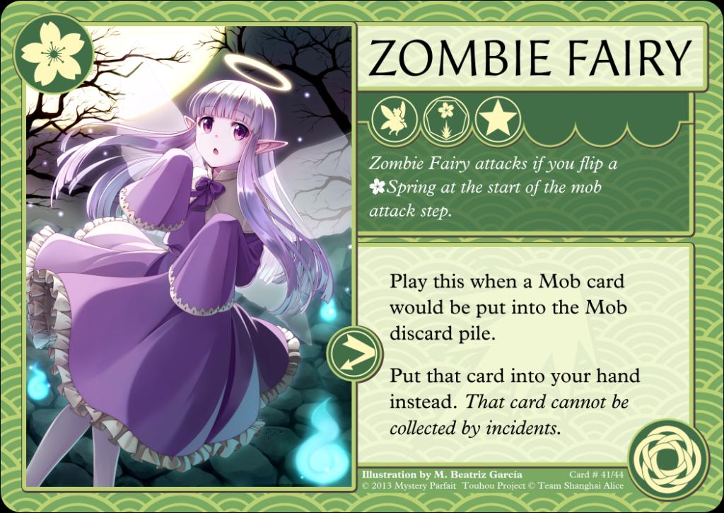Zombie Fairy Card